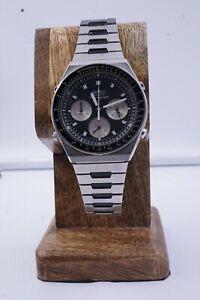 Vintage Rare SEIKO 7A28-7039 Speed Timer Panda Chronograph SS Original Bracelet!