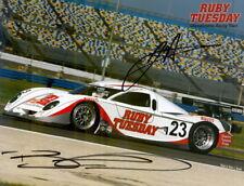 2008 Alex Job Racing Porsche Daytona Prototype signed Grand Am postcard