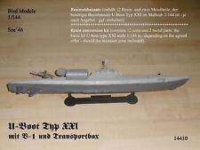 U-Boot Type XXI avec v-1 et boîte de transport 1/144 Bird Models mischkit/Mixed Kit