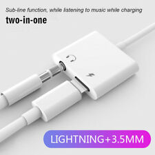 Lightning to 3.5mm AUX Audio Jack Splitter Headphone Adapter For iPhone X 8 7 XR