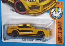 2017 HOT WHEELS Ford Mustang Shelby GT350R Col. #311/365 MUSCLE MANIA 2/10 NIP
