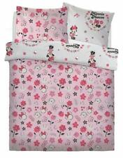 Official Disney Minnie Mouse Pink Floral Double Bed Duvet Cover Set