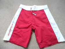 "Jack Wills ladies red & white shorts size 8 waist size 30"""