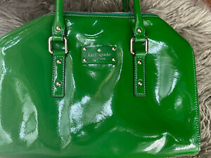 kate spade kelly green patent leather tote