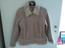 Ladies  suedette Borg  lined  JACKET  Coat size 12 vgc