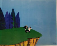 Warner Brothers Pepe Le Pew Original Production Cel + Drawing Set