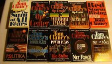 Lot of 10 TOM CLANCY pbs Suspense RED STORM RISING Op-Center NET FORCE Politika