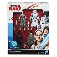 Star Wars E0321EU4 Force Link Battle on Crait 4 Figure Pack, 3.75 Inch