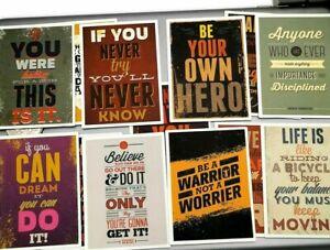 Mental Health Awareness Motivational Positive Sayings PVC Stickers 24pcs MIND