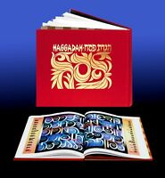 Jewish Passover Haggadah Book, Judaica Hebrew English Illustrated Pesach Israel