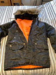Genuine 1980's Snorkel Parka N3B Warm Coat Jacket Vintage Retro Large VGC
