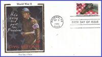 US #2559g U/A COLORANO SILK FDC   World War II - Civil Defense