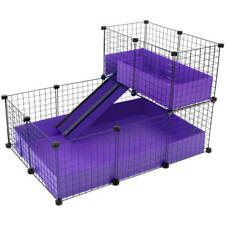 LARGE INDOOR DOUBLE DECKER GUINEA PIG CAGE / kit cheapest on ebay