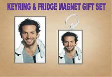 BRADLEY COOPER Key Ring & Fridge Magnet Set