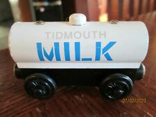 Thomas Gullane Wooden TIDMOUTH MILK TANKER Thomas & Friends Wood Engine 2003