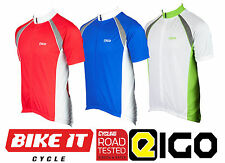 MEN'S SHORT SLEEVE CYCLING JERSEY- RED/BLUE/WHITE S-XXL MTB BIKE CYCLE JERSEY