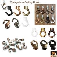 Vintage Iron Ceiling Hook For Pendants-Fixtures-Chandelier Hanging Light Holder