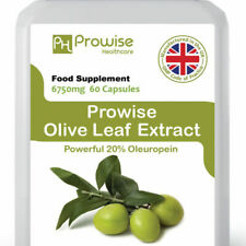 Olive Leaf Extract Source of Oleuropein OK for V & V's 60 Caps 6750mg - Prowise