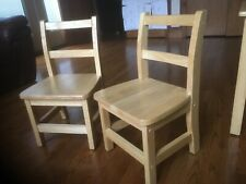 Wooden children's height chairs set of 2
