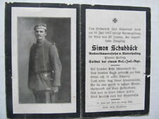 Rare Wwi German Death Card, Died By Gas Poisoning During Gas Attack, Sterbilde