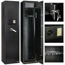 Security 5 Gun Rifle Shotgun Pistol Electronic Lock Storage Safe Cabinet Firearm