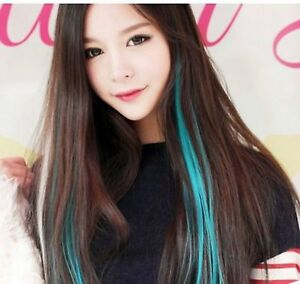 """21"""" 55cm Hair Highlights Clip In On Hair Extensions Fake Synthetic Cosplay"""