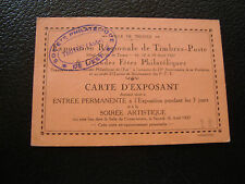 FRANCE - document 1927 (carte d exposant) (cy65) french