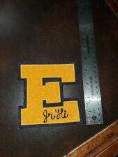 """Vintage 1950s Jr. High School Varsity """"E"""" Patch"""