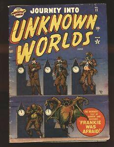 Journey Into Unknown Worlds # 11 - Krigstein art VG+ Cond.
