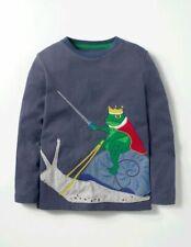 Mini Boden Boys Frog Prince Applique Long Sleeve Top 2 3 4 5 6 7 Years