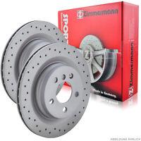 Zimmermann SPORT Bremsscheiben Satz Volvo XC90 I 2.5T 3.2AWD T6 V8 D3 D5 hinten