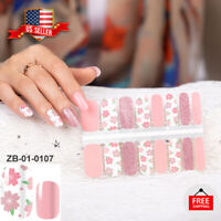 New 100% REAL Nail Polish Strips Nail Stickers -Manicure Pedicure Wraps-US STOCK