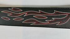Stagg SLPL75 BLK Leather Guitar Strap