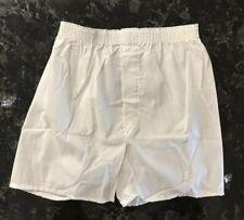 Vintage Hanes Boxer Shorts NOS 70s Cotton Polyester Blend Sz S 30-32 White USA