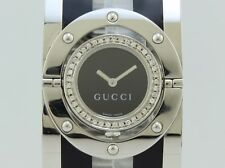 Gucci Twirl Collection Bezel Diamonds Quartz Steel Lady