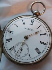 Antique Men's Pocket Watch Solid Silver Case Key Wind American Watch Co. Waltham