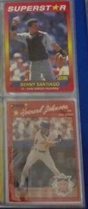 Howard Johnson/Benny Santiago Baseball cards (LOT 2 cards)