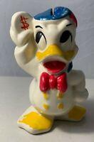 1940's Vintage Leed's Walt Disney Donald Duck Ceramic Bank