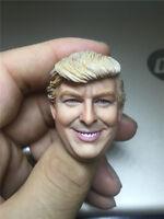 Custom 1/6 Donald Trump head sculpt For 12'' Phicen male body In stock