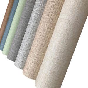 Linen Waterproof Wallpaper Self Adhesive Peel and Stick Contact Paper D33