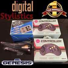 AC Adapter Power Supply & AV Cable Cord & 2 Controllers NIB Sega Genesis Model 1