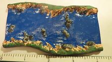 HO/O scale River/ Stream Painted straight section train Dollhouse Diorama