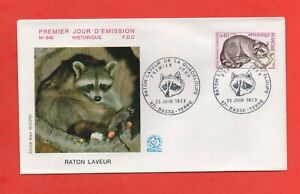 FDC 1973 - Raccoon of The Guadeloupe (1618)