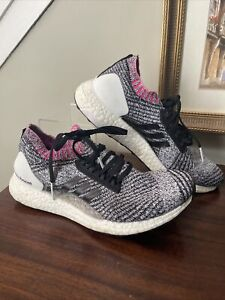 Adidas Ultra Boost BB6524 X Shock Pink Breast Cancer Ribbon Knit Shoes Size 7.5