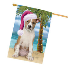 Happy Holidays Christmas American Staffordshire Terrier Dog House Flag Flg54726