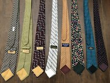 YSL Yves Saint Laurent Givenchy Lot Of 8 Designer Ties