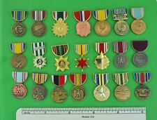 21 MILITARY MEDAL HAT PINS DEALER COLLECTOR LOT- ARMY NAVY USAF USMC LOT B