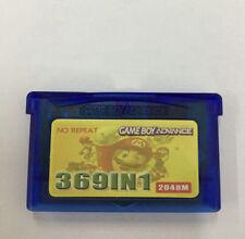 369 in1-Game Boy Advance Game Cartridge w/ Battery Save - Pokemon Mario Contra.