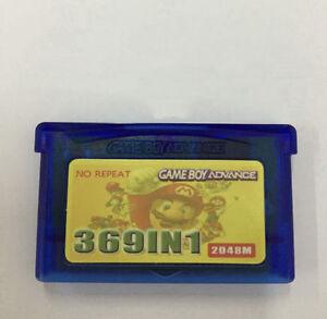 NEW 369 in1-Game Boy Advance Cartridge w/ Battery Save - Pokemon Mario Contra..