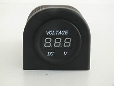 Voltmeter Socket Surface Mount for Car 4x4 Camper Trailer Caravan Boat 12-24V